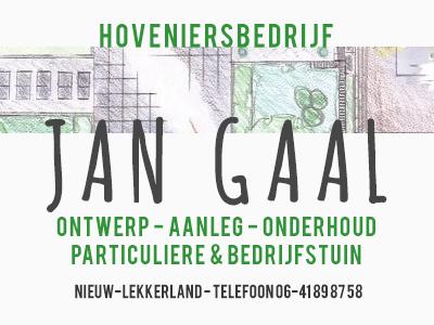 Advertentie Hoveniersbedrijf Jan Gaal